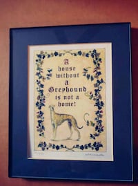 Greyhound picture quote, framed Knoxville, 37912