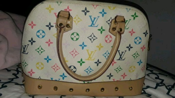 1a63e8c5e253 Used brown and white Louis Vuitton monogram leather han for sale in ...