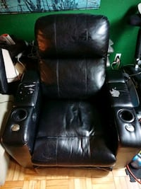 Faux leather captains chair.  Toronto, M8V