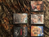 Four assorted movie dvd cases