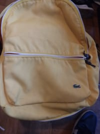 yellow lacoste book bag  The Bronx