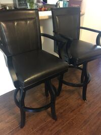 black leather padded rolling armchair Simi Valley, 93065