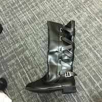 black leather knee high boots Summerdale, 36580