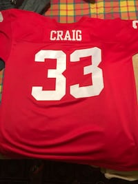 #33 Craig red and white football jersey Redwood City, 94061