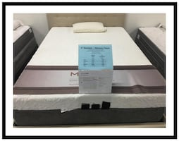 Brand New King Memory Foam Mattress Set still in plastic