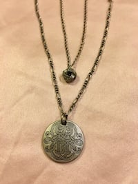 Vintage silver double strand necklace