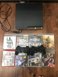 PS3 with 2 controllers lot of games including nfs series Brampton