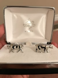 WEBER cuff links - bull and bear .