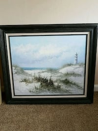 $20 Great beach artwork. Framed and ready to hang. Garwood, 07027