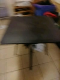 Metal table with 3/4 in granit top