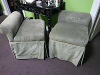 two green fabric chairs Stockton, 95207