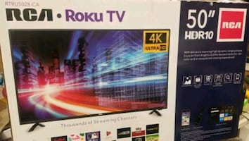 "TV 50"" NEW 4K SMART ROKU RCA"