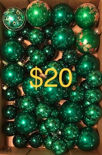 Green Christmas Decorations - $20 3170 km