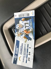 2 rams vs chargers tickets each Riverside, 92503