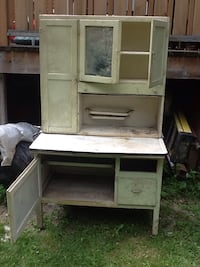 "Very old antique cabinet, base is 41 1/2"" length by 26 1/2"" width by 31"" height. Top is 12"" by 98"" height Toronto, M4K 2X5"