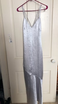 Silver formal long dress