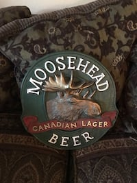 Hard plastic moose head Canadian lager beer sign  Citrus Heights, 95610