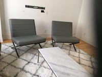 2 grey chairs comfy and modern Montréal, H3C 2P8
