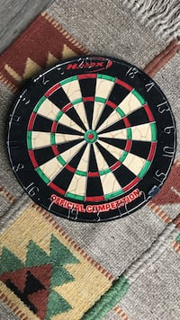 Black, white, green, and red dartboard Alexandria, 22306