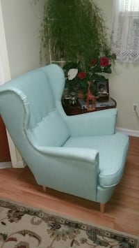 white and blue fabric sofa chair Morristown, 07960
