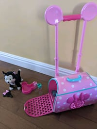 Disney Exclusive Play Set Minnie Mouse and Figaro Travel Carrier Brampton, L7A 0J8