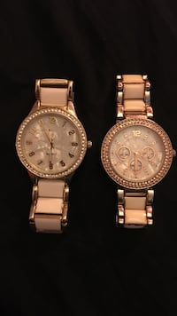 Two white and gold women's watches  Kitchener, N2G 3L6