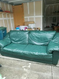 Green leather couch Austin, 78741