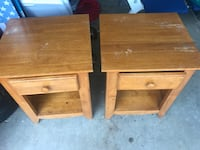 Two brown wooden side tables San Antonio, 78245