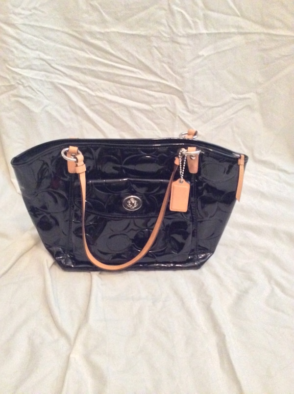 43f80c2dac1 Coach black patent leather handbag