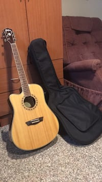 brown classical guitar with gig bag Whitehall, 49461