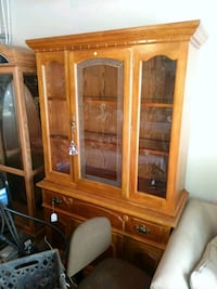 brown wooden framed glass display cabinet Liberty, 29657