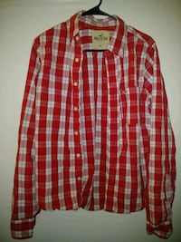 Red and White plaid Hollister shirt High Point, 27265