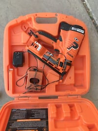 Paslode Angled Finish Nailer IM250A Li. 16 gauge. Works great. Comes with what is pictured. Asking $180