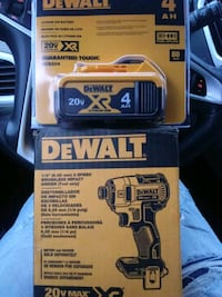 Dewalt 3 speed brushless impact driver with 4 amp 20 volt battery