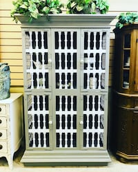 White & white shabby chic China cabinet Clearwater, 33761