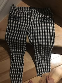 Black/white Mango casual pants size 36, US 4 Washington, 20024
