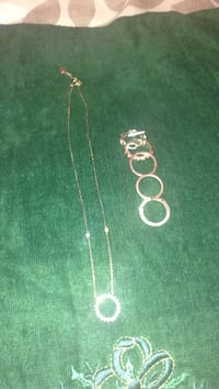 Silver chain necklace and Set of 6 Bootleggers rings 3138 km