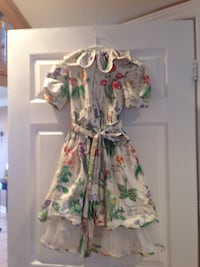 Girls multicolored floral dress size 6