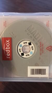 Mad Max Fury Road DVD in RedBox case