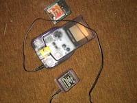 Clear purple Gameboy color with shock and rock