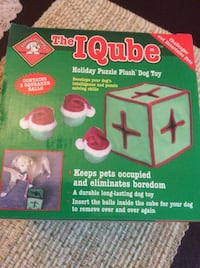 The IQube Holiday Plush Dog Toy - Brand New