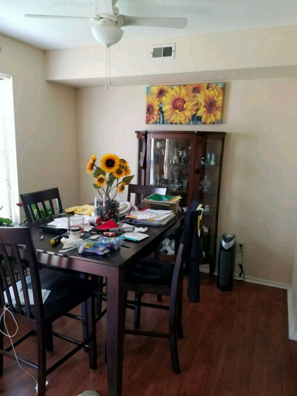 ASHLEY Pub Style Kitchen table and 4 chairs.