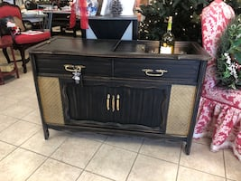 Upcycled Vintage Radio Bar