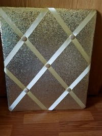 Gold Glitter photo/note board -New! Crestwood, 60445