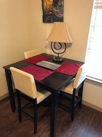 Rectangular brown wooden table with four chairs dining set San Antonio, 78229
