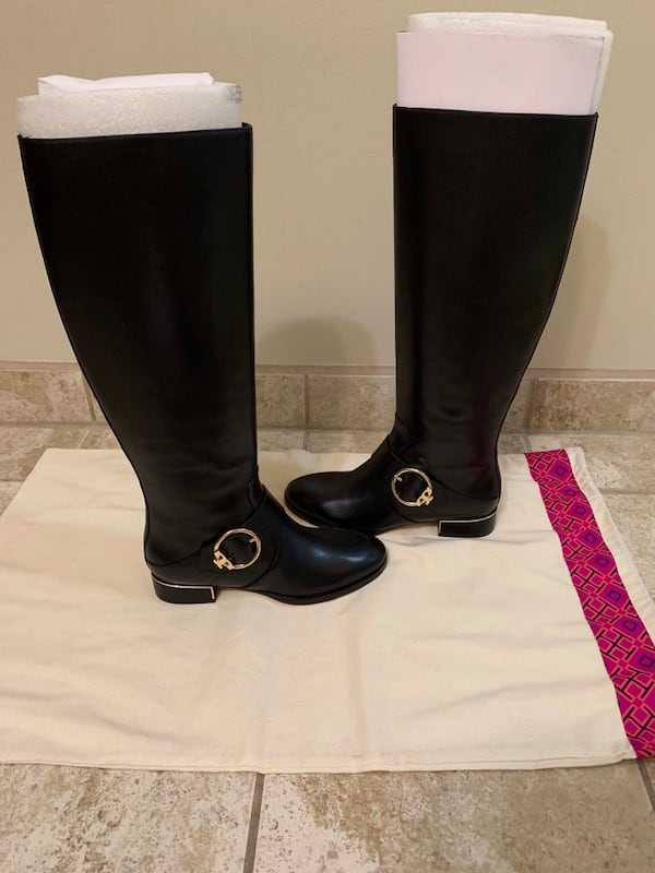 New Tory Burch black riding boots 1