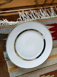 white and gold plate Salem, 53168