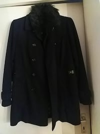 schwarzer Button-up Mantel gr 40