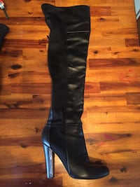 Over the knee Leather Boots w/zipper detail Medicine Hat