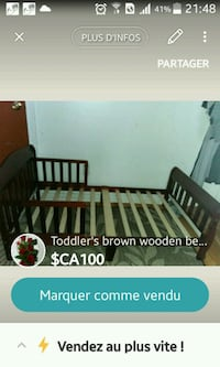 brown wooden crib with changing table screenshot Montréal, H2E 1M8